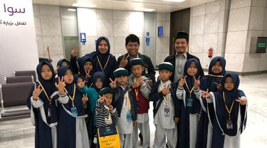 15 anak yatim yang hendak beribadah umrah tertahan di Bandara Jeddah, Arab Saudi karena paspornya tertinggal (Dok KJRI Jeddah)