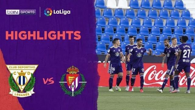 Berita video highlights La Liga 2019-2020 antara Leganes melawan Real Valladolid yang berakhir dengan skor 1-2, Minggu (14/6/2020).