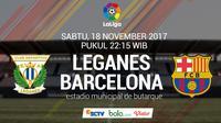 La Liga Leganes vs Barcelona (Bola.com/Adreanus Titus)