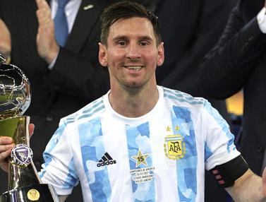 Foto Copa America: 5 Pemain yang Tampil Gemilang di Turnamen Copa America 2021, Messi Akhiri Kutukan Final di Turnamen Ini