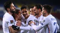 Timnas Prancis membungkam Bosnia dan Herzegovina dengan skor 1-0 pada laga ketiga Grup D kualifikasi Piala Dunia 2022 zona Eropa, di Grbavica Stadium, Kamis (1/4/2021) dini hari WIB. (AFP/Franck Fife)
