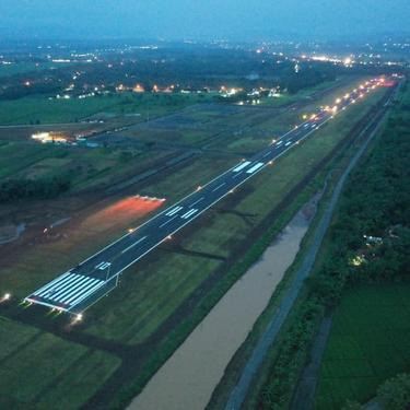 Penampakan runaway Bandara Jenderal Besar Soedirman, Purbalingga. (Foto: Liputan6.com/Pemkab Purbalingga)