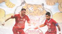 Persija Jakarta - Marko Simic Vs Bambang Pamungkas (Bola.com/Adreanus Titus)