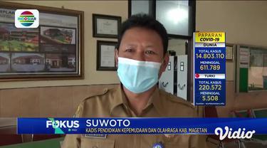 Terdapat lima guru yang tersebar di tiga Sekolah Dasar Negeri, di Magetan, Jawa Timur, terkonfirmasi positif Covid-19. Dan Gedung DPRD Probolinggo ditutup sementara, akibat adanya seorang anggota dewan yang positif terpapar Covid-19 pasca studi bandi...