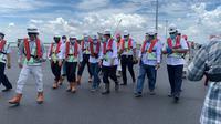 Menteri Perhubungan Budi Karya Sumadi mengecek kesiapan pembukaan tahap awal Pelabuhan Patimban di Subang, Sabtu (31/10). (Dok Kemenhub)