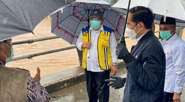 Jokowi meninjau banjir di Kalimantan Selatan