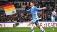 Gelandang Lazio Sergej Milinkovic-Savic. (AP Photo/Alessandro Di Meo)