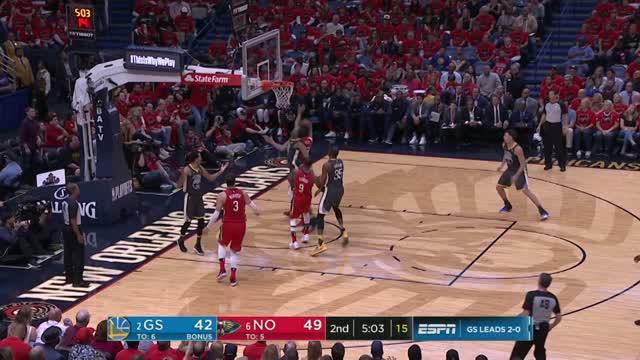 Anthony Davis dan Rajon Rondo memimpin New Orleans melewati Golden State di Game 3.