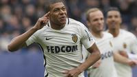 Striker AS Monaco asal Prancis Kylian Mbappe. (AP Photo/David Vincent)