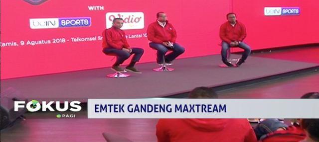 Emtek Group gandeng MAXstream Telkomsel untuk tayangkan streaming pertandingan Asian Games 2018.