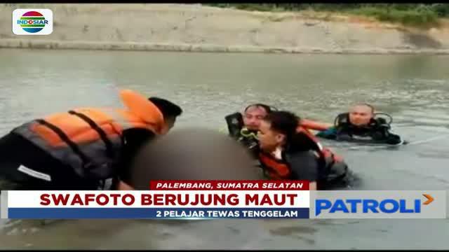Lantaran asik berswafoto di Pantai Semeti, Lombok Tengah, sepasang kekasih terpeleset hingga tewas tercebur ke laut.