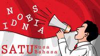 Ilustrasi Satu Nusa Satu Bahasa