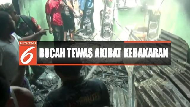 Kobaran api pertama kali terlihat dari bagian belakang rumah milik Jamidin yang ditinggal berjualan.