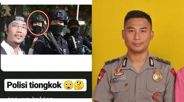 Hasil gambar untuk elain Andre, Ini Potret Ib Benuh Anggota Brimob yang Dikira 'Aparat Impor' dari China