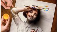 Pria Ini Padukan Gambar Pensil dengan Foto, 5 Hasilnya Nyata Banget (sumber: Boredpanda)
