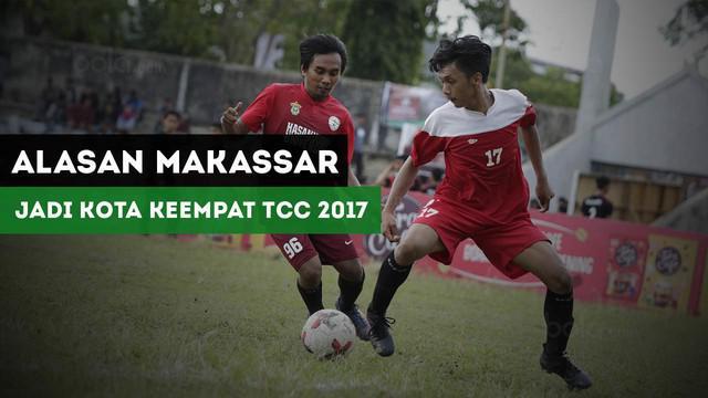 Kota Makassar terpilih menjadi kota keempat pada turnamen Torabika Campus Cup 2017