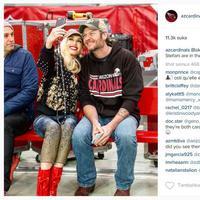 Gwen Stefani dan Blake Shelton (via instagram.com/azcardinals/)