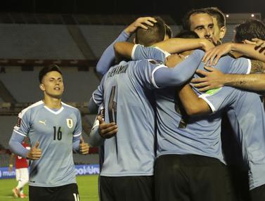 Menang Dramatis, Uruguay Taklukan Chile di Kualifikasi Piala Dunia 2022