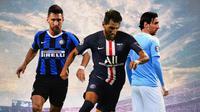 Ilustrasi Lionel Messi - Inter Milan, PSG, Manchester City (Bola.com/Adreanus Titus)