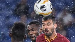 Leonardo Spinazzola. Bek asli Italia ini direkrut AS Roma dari Juventus senilai 29,5 Juta Euro pada awal musim 2019/2020. Hingga musim ini telah tampil dalam 71 laga di semua ajang kompetisi dengan mencetak 4 gol dan 11 assist. (AFP/Filippo Monteforte)