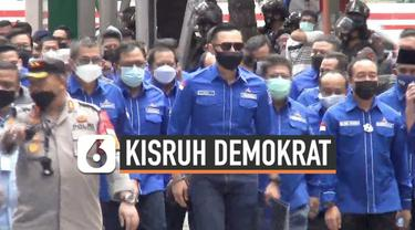 Ketua Umum Parta Demokrat Agus Harimurti Yudhoyono menyambangi gedung Kemenkumham Senin (8/3) pagi. Ada keperluan apa?