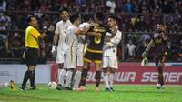 PSM Makassar bermain imbang 1-1 kontra PSS Sleman di Stadion Andi Mattalatta Mattoangin, Minggu (15/12/2019). (Bola.com/Abdi Satria)