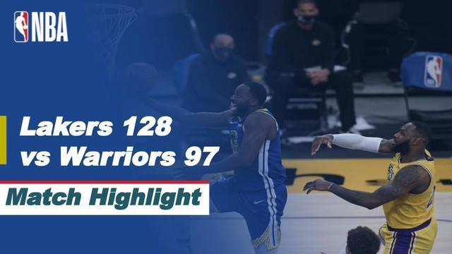 Berita Video Highlights NBA, LA Lakers Kalahkan Golden State Warriors 128-97 (16/3/2021)