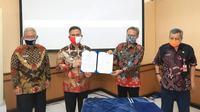 Wali Kota Tarakan, Khairul, M.Kes. saat acara Penandatanganan Nota Kesepakatan antara Pemkot Tarakan dengan Badan Pengawasan Keuangan dan Pembangunan (BPKP).