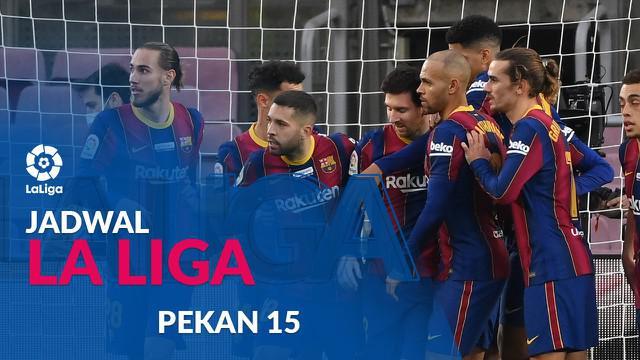 Berita motion grafis jadwal Liga Spanyol pekan ke-15. Barcelona tantang Real Valladolid, Rabu (23/12/2020).