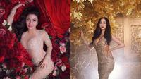 Ariel Tatum dan Aura Kasih tampil cantik dan elegan pakai dress see-through. (Instagram/Ariel Tatum, Aura Kasih)