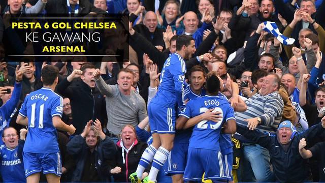 Ini cuplikan 6 gol Chelsea yang bersarang ke gawang Arsenal