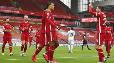 Mohamed Salah Hattrick, Liverpool Susah Payah Taklukkan Leeds United