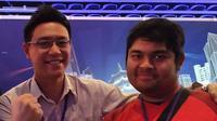Atlet Tekken 7 Indonesia, Adriiyansyah Jusuf (kanan), bersiap demi SEA Games 2019.  (FOTO / Ist IESPA)