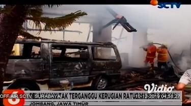 Diduga akibat korsleting listrik mesin pendingin ruangan, AC gudang obat rumah sakit milik Pemerintah Kabupaten Jombang, Jawa Timur terbakar, Senin siang. Akibatnya, sejumlah obat dan mobil jenazah, ludes terbakar saat kejadian.