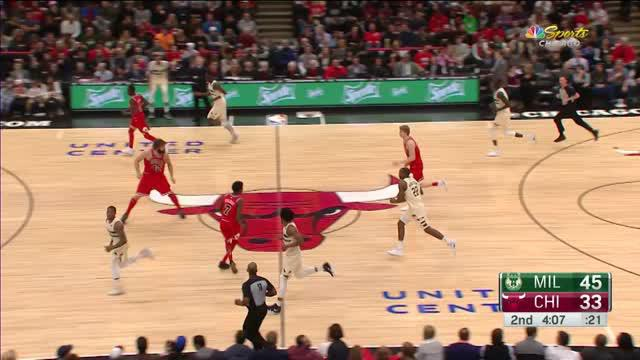 Berita video game recap NBA 2017-2018 antara Milwaukee Bucks melawan Chicago Bulls dengan skor 110-96.