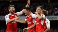 Pemain Arsenal rayakan gol ke gawang Chelsea (APFoto)