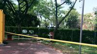 Lokasi meninggalnya Sandy alias Gepeng yang dikerjai teman-temannya  (Liputan6.com/ Pramita Tristiawati)