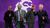 Premier League - Pep Guardiola, Alex Ferguson, Jurgen Klopp, Jose Mourinho (Bola.com/Adreanus Titus)