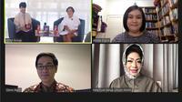 Konferensi pers LEAP Virtual Summit 2020 yang akan diselenggarakan dari 17--22 Desember 2020 (Liputan6.com/Komarudin)