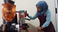 Pelatihan kopi saring.