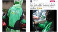 Momen Kocak Saat Driver Ojek Online Kehujanan Ini Bikin Ketawa (sumber:Instagram/dramaojol.id)