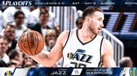 Utah Jazz akan menjamu Golden State Warriors pada Gim 3 semifinal NBA 2017 Wilayah Barat di Vivint Smart Home Arena, Salt Lake City, Utah, Sabtu (6/5/2017). (Bola.com/Twitter/utahjazz)