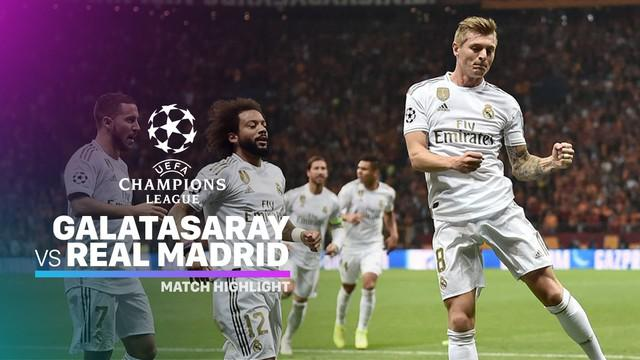 Berita video highlights matchday 3 Grup A Liga Champions 2019-2020 antara Galatasaray melawan Real Madrid yang berakhir dengan skor 0-1, Selasa (23/10/2019).
