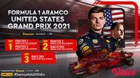 Jadwal dan Live Streaming F1 GP Amerika 2021, Tayang Eksklusif di Vidio. (Sumber : dok. vidio.com)