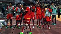 Myanmar ke final Piala AFF U-19 2018 setelah mengalahkan Thailand 1-0. (Bola.com/Zaidan Nazarul)