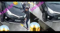 Toyota Calya nyaris tercebur ke laut (@radartarakanofficial)