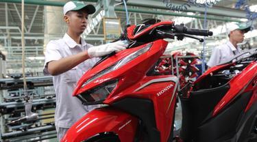 PT Astra Honda Motor (AHM) berhasil meningkatkan ekspor sepeda motor nasional sepanjang tahun 2019