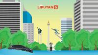 Banner Infografis Jakarta Banjir Lagi. (Liputan6.com/Abdillah)