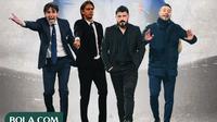 Serie A - Andrea Pirlo, Filippo Inzaghi, Simone Inzaghi, Gennaro Gatusso, Roberto De Zerbi (Bola.com/Adreanus Titus)