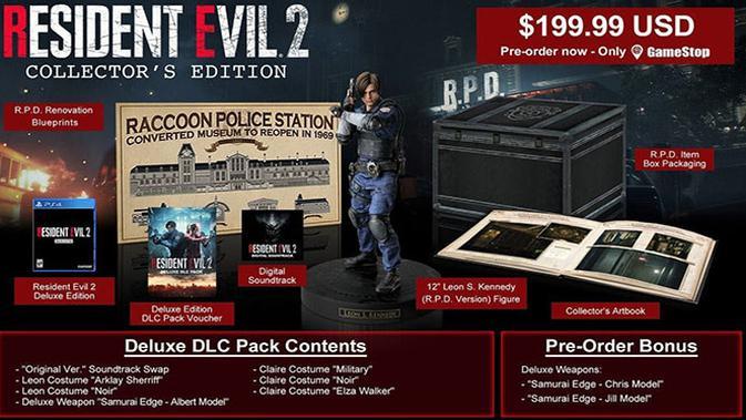 Edisi kolektor Resident Evil 2 Remake. (Foto: Capcom)